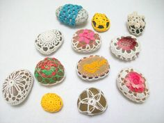 Spring colors crochet stoneswedding gifthome by MyDreamCrochets, $60.00
