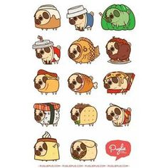 """Puglie whatchu doin in all dem foods!?"" Series One ;P by pugliepug"