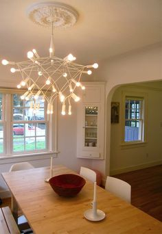 i need to add this medallion to my chandelier like this!