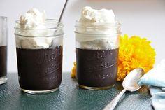 Midnight Black Chocolate Pudding Dessert in a Jar
