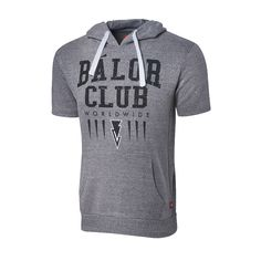 This short Sleeve Pull over Hoodie has an athletic throwback look complete with chunky drawstring. Its super soft tri-blend fleece is all about comfort Balor Club, Wwe T Shirts, Finn Balor, Short Sleeve Hoodie, How To Get, Hoodies, My Style, Ps4 Games, Stuff To Buy