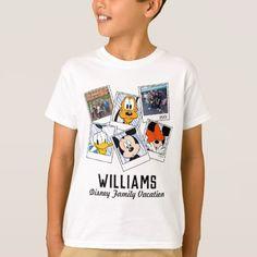 Disney Family Vacation Selfies | Mickey & Friends T-Shirt - unusual diy cyo customize special gift idea