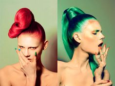 I'm syriousLY in fashion: Trend: Colored Hair for 2012 - Rainbow Hair