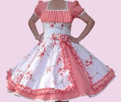 Huasa chilena, Vestidos de china! Harajuku Fashion, Kawaii Fashion, Lolita Fashion, Fashion Outfits, Barbie Dress, Lolita Dress, Dance Outfits, Kids Outfits, Little Girl Dresses