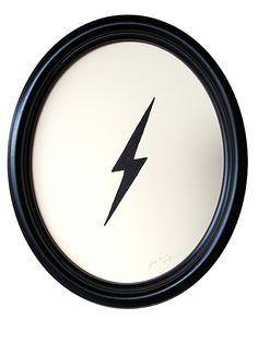 """Lightning Bolt"" by Jennifer Ament, $350, 10"" x 10"", available at Serena & Lily. #serenaandlily"