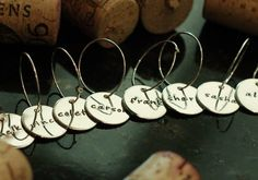 Wine charms for hostess, wedding or birthday gifts
