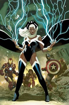 Storm who's birth name is Ororo Munroe was orphaned at the young age of five and started her childhood on the streets of Cairo, Egypt as a master lock-pick/ thief.