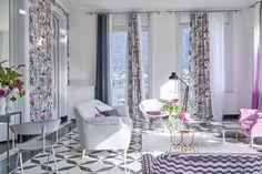 Designers Guild Majolica Slate fabric and wallpaper