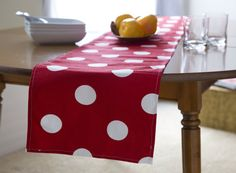 Red Table RunnerModern Table Runner.Red Table by KikoyChic on Etsy, $18.00