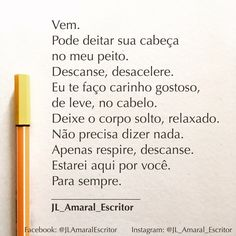 Estarei aqui pra você, para sempre ! #JLAmaralEscritor #JL_Amaral_Escritor #Frases