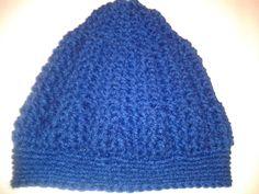 Classic Cobalt Blue Kids Winter Hat by CrochetandMacrame on Etsy, $15.00