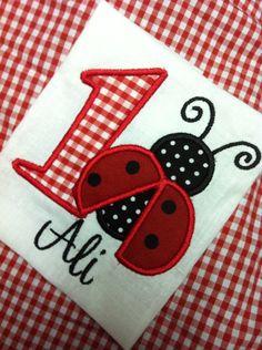 Ladybug Birthday Shirt or Bodysuit on Etsy, $17.00