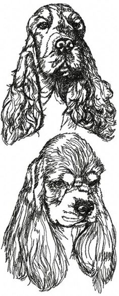 Advanced Embroidery Designs - Cocker Spaniel Set