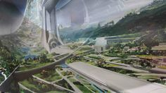 Syd Mead's Design for Elysium