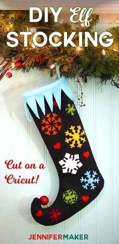 Your E-Organization - Employ An Accountant Or Do It Yourself Diy Elf Stocking With A Curly Toe, Snowflakes, And Hearts For Free Sewing Pattern Cricut Svg Cut File Felt And Fleece Christmas Stocking Decor Cricut Christmas Ideas, Christmas Crafts, Christmas Things, Christmas Balls, Family Christmas, Christmas Decorations, Xmas, Christmas Stocking Pattern, Christmas Stockings