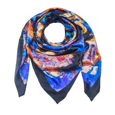 Indus 1 - Silk Scarf - Celestial Collections – Silk and Stone