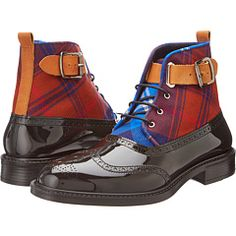 Mad for plaid?  Take the first step to drive the public insane with delirious desire by hitting the pavement with pride wearing the Vivienne Westwood Plaid Brogue Boot! #VivienneWestwood #ZapposCouture