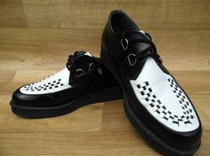 80s T.U.K. Men's Creepers Rockabilly Black White by DalixStudios, £45.00