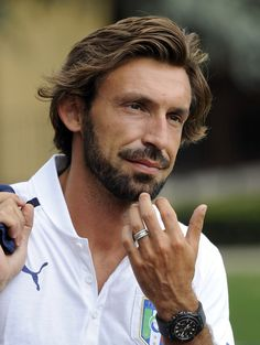 Andrea Pirlo was blessed with first class tresses of brown gold sent from the heavens. | Definitive Proof That Andrea Pirlo's Hair Is God's Defining Achievement