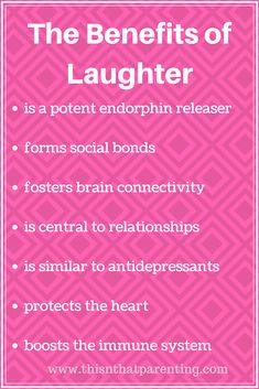 This article gives parents the why, what and how of making sure there is daily laughter happening with your children. The payoffs are in everyone's favor!