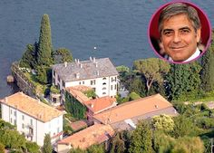 Overlooking Lake Como in Italy, George Clooney's 18th century house has it's own name: Villa Oleandra.
