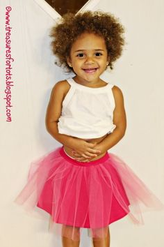 Twirly Tee Tutu Skirt tutorial, tulle over knit skirt from Treasures for Tots