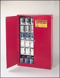 A Warehouse Full! - Eagle 60 Gallon Paint and Ink Tower Safety Storage Cabinet, $785.00 (http://www.awarehousefull.com/eagle-60-gallon-paint-and-ink-tower-safety-storage-cabinet/)