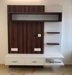 Simple Tv Unit Design, Modern Tv Unit Designs, Living Room Tv Unit Designs, Tv Unit Interior Design, Tv Unit Furniture Design, Tv Wall Design, Bedroom Built In Wardrobe, Bedroom Closet Design, Home Room Design