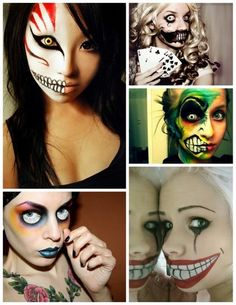 Funny pictures about Scary Halloween makeup. Oh, and cool pics about Scary Halloween makeup. Also, Scary Halloween makeup. Costume Halloween, Halloween Week, Holidays Halloween, Halloween Make Up, Scary Halloween, Halloween Crafts, Halloween Face Makeup, Halloween Clothes, Halloween Painting