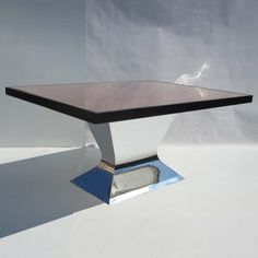 Polished Aluminum and Copper Dining Table by Joel Lang | From a unique collection of antique and modern dining room tables at http://www.1stdibs.com/furniture/tables/dining-room-tables/