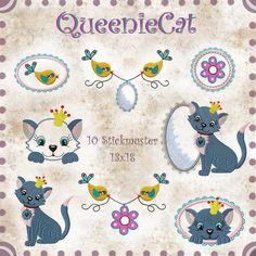 QueenieCat 13x18 von PueppiLottaDesign auf Etsy