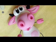 Polymer clay/Fimo Tutorial- pink cow/vaquinha rosa - YouTube