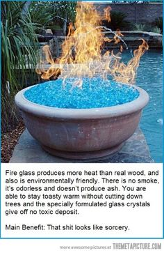 Fire Glass? Looks neat. Want for the backyard.