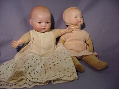 Antique Armand Marseille Am 2 Bisque Infant Baby Dolls