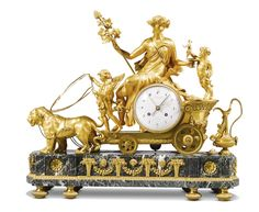 An Empire ormolu and verde antico mantel clock, French, circa 1810 | lot | Sotheby's
