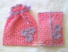 Sachet Bag And Tissue Case - Free Crochet Diagram - (tecendoartesesonhos.blogspot)