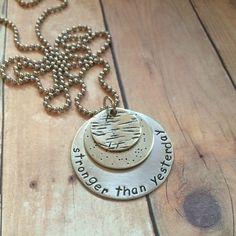 Stronger than Yesterday Necklace Nickel Version by DancingMoonShop