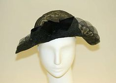 Hat | American, 1930-1939 | Materials: nylon, cotton | The Metropolitan Museum of Art, New York