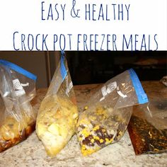 Crock pot freezer meals Easy crock pot meals Freezer meals Healthy freezer meals