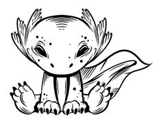 Axolotl, New Work, Adobe Illustrator, Digital Art, Snoopy, Behance, Photoshop, Cartoon, Manga
