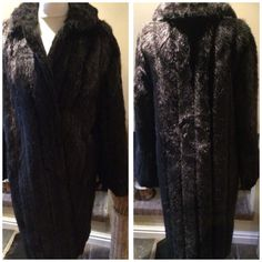 Stylish Vintage 60s Faux Fur Coat Skins by Taube Size 10 / 12