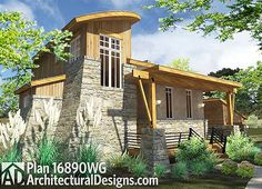 Our small house plans under 1000 sq. showcase floor plans that maximize space to make the most of your new home. Search our small house plans to find the right blueprints for you - we carry styles that range from traditional to modern. Contemporary Cottage, Contemporary Style Homes, Contemporary House Plans, Modern House Plans, Small House Plans, Tuscan House Plans, Cottage House Plans, Cottage Homes, Cozy Cottage