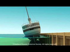 Eastland Disaster animation of ship rolling into the Chicago River Great Lakes Shipwrecks, Titanic Underwater, Great Lakes Ships, Titanic Ship, Chicago River, Chicago Style, Lake Superior, Chicago Illinois, Timeline Animation