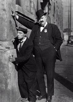 Big Joe Roberts is again Buster's nemesis, this time as a cop - The Goat 1921