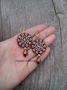 Soutache Bracelet, Soutache Jewelry, Boho Jewelry, Round Earrings, Boho Earrings, Handmade Necklaces, Handmade Jewelry, Black Bracelets, Beaded Jewelry Patterns
