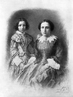 Sarah Bernhardt and her mother