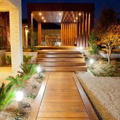 Wood Path Design Ideas, Pictures, Remodel, and Decor