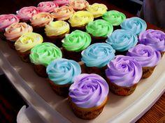multicoloured cupcakes