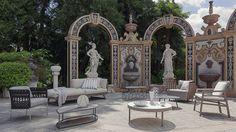 art nouveau summer on Behance Interior Stylist, Interior Design, Wedding Plants, Garden Wedding, Versace Mansion, Lake Como Wedding, Grand Hotel, Retail Design, Art Nouveau
