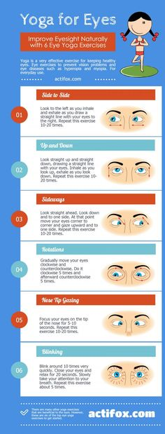 Yoga for Eyes: Top 6 Exercises to Improve Eyesight (Infographics) - Actifox.com